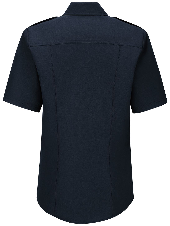 Workrite FR Women's Chief Shirt FSC7, Classic Short Sleeve Midnight Navy Back