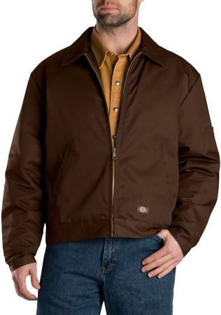 Dickies Men's Outerwear - Lined Eisenhower Jacket TJ15 - Dark Brown