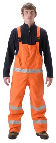 nasco petrolite orange hi vis flash fire petrochemical rainwear bibs