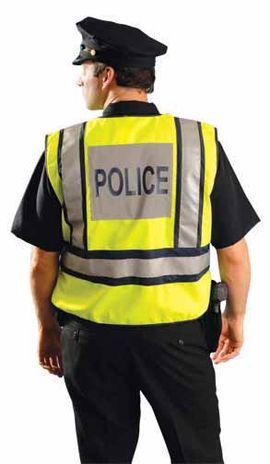 Occunomix LUX-PSP Hi Vis Police Vest Back