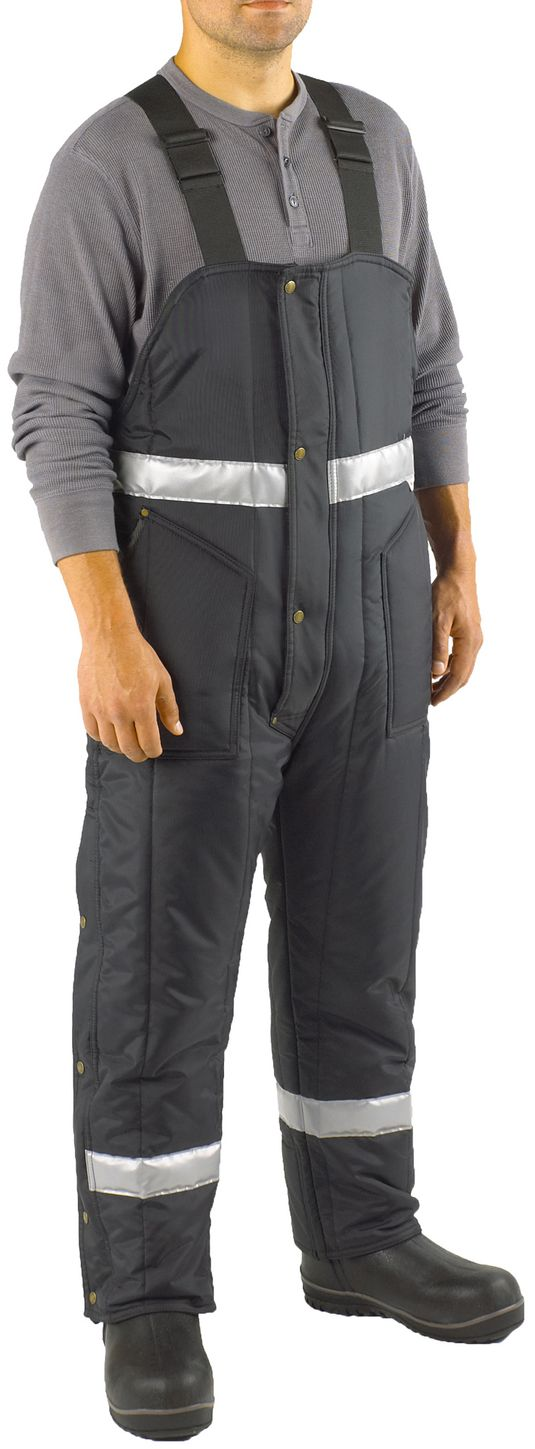 RefrigiWear 0386 Iron-Tuff Winter Work Overall High Bib With Reflective Tape Example