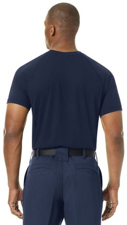 Workrite FR Station Wear Tee FT36, Base Layer, Athletic Style Navy Example Back