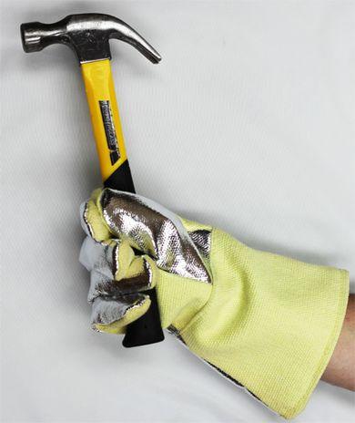 Aluminized Back Kevlar Gloves with Hammer