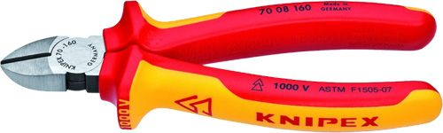 "Knipex 6.25"" Insulated Diagonal Cutters 70 08 160"