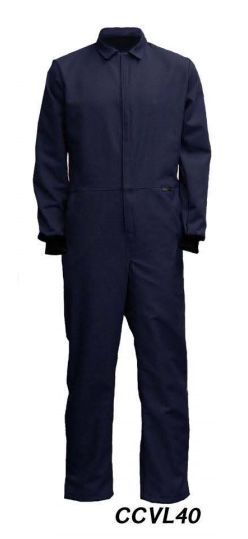 "Cementex CCVL40 40 Cal ""C Series"" Indura Ultra Soft® FR Treated Cotton Coverall, HRC 4"