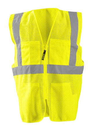 Occunomix OccuLux Vest LUX-SSGCS - Economy Mesh, Surveyors Hi Vis Front Yellow