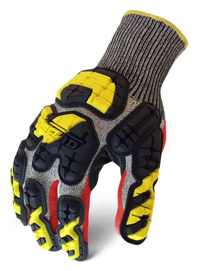 Ironclad INDI-KC5 Industrial Impact Knit Cut 5 Grip Gloves