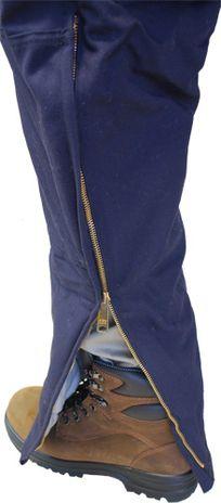 Leg Gusset View of FR Bib Overalls 588UT11 from Workrite Uniforms