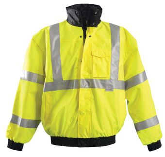 Occunomix OccuLux Rain Jacket LUX-TJBJ - High Visibility Bomber Front Yellow
