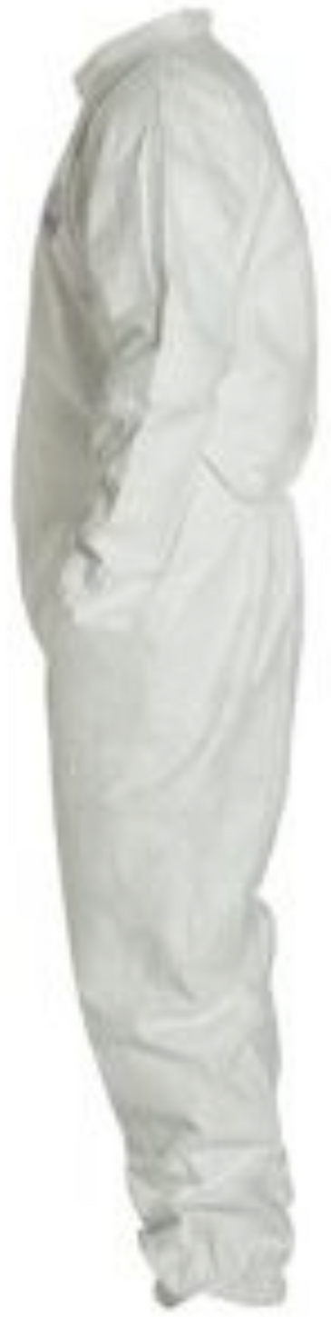 DuPont Tyvek Disposable Coverall with Elastic Wrists & Ankles - TY125SWH Left Side