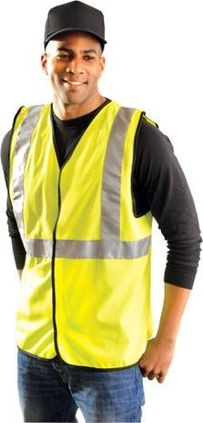 Occunomix Classic Solid Economy Hi Vis Safety Vest LUX-SSG Example Front