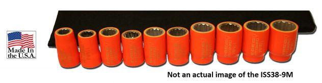 Cementex ISS38-9M Insulated Metric Socket Kit, 9PC