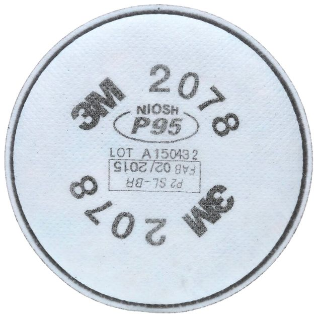 3M 2078 P95 Filters - Nuisance OV/ Acid Gas Relief Front