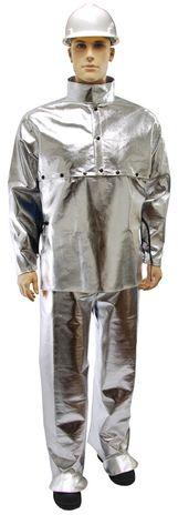 Otterlayer aluminized suit cape sleeve bib leggings hip full height front SL5-ACF