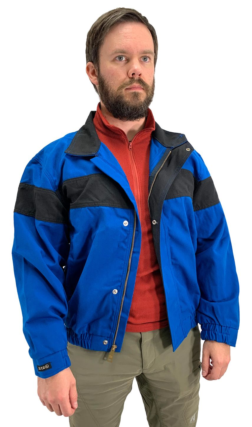Workrite Fire Resistant Safety Jacket 300NX60/3006 - 6 oz Nomex® IIIA Royal Blue Example