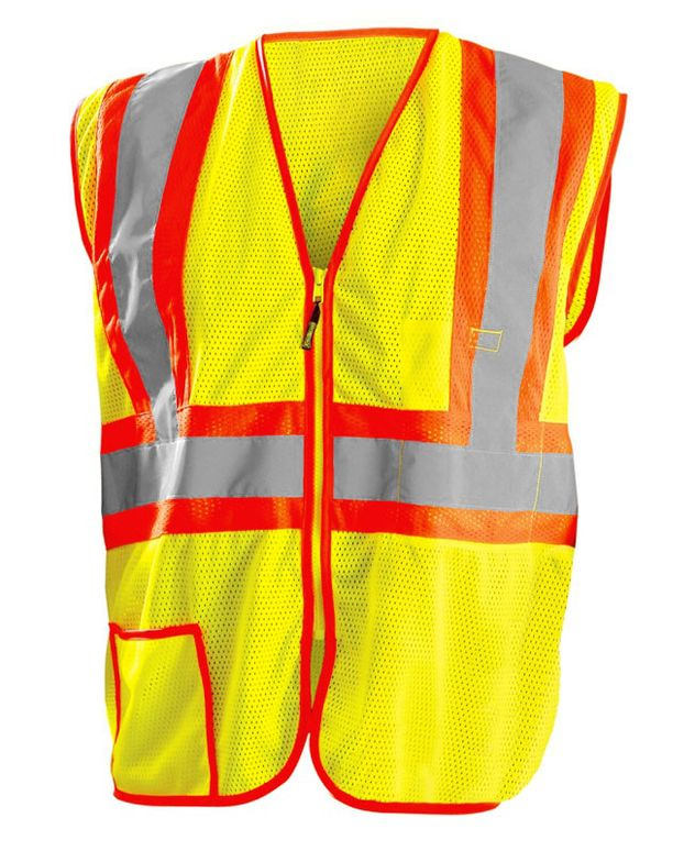 Occunomix LUX-SSCLC2Z Hi-Viz Mesh Two Tone Vest With Zipper
