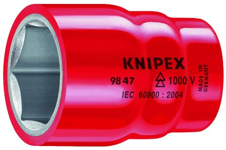 """Knipex Tools Inch-Sized Insulated Hexagon Sockets For 1/2"""" Driver"""