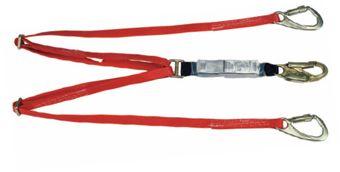 MSA 10047085 FP5K Tie-Back Twin Leg Shock-Absorbing Lanyard