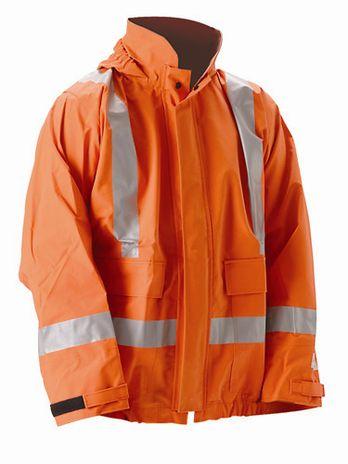 nasco petrolite hi viz flash fire arc rated premium rain jacket