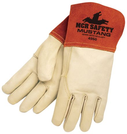 MCR Safety Mustang MIG/TIG Cowhide Welding Gloves 4950