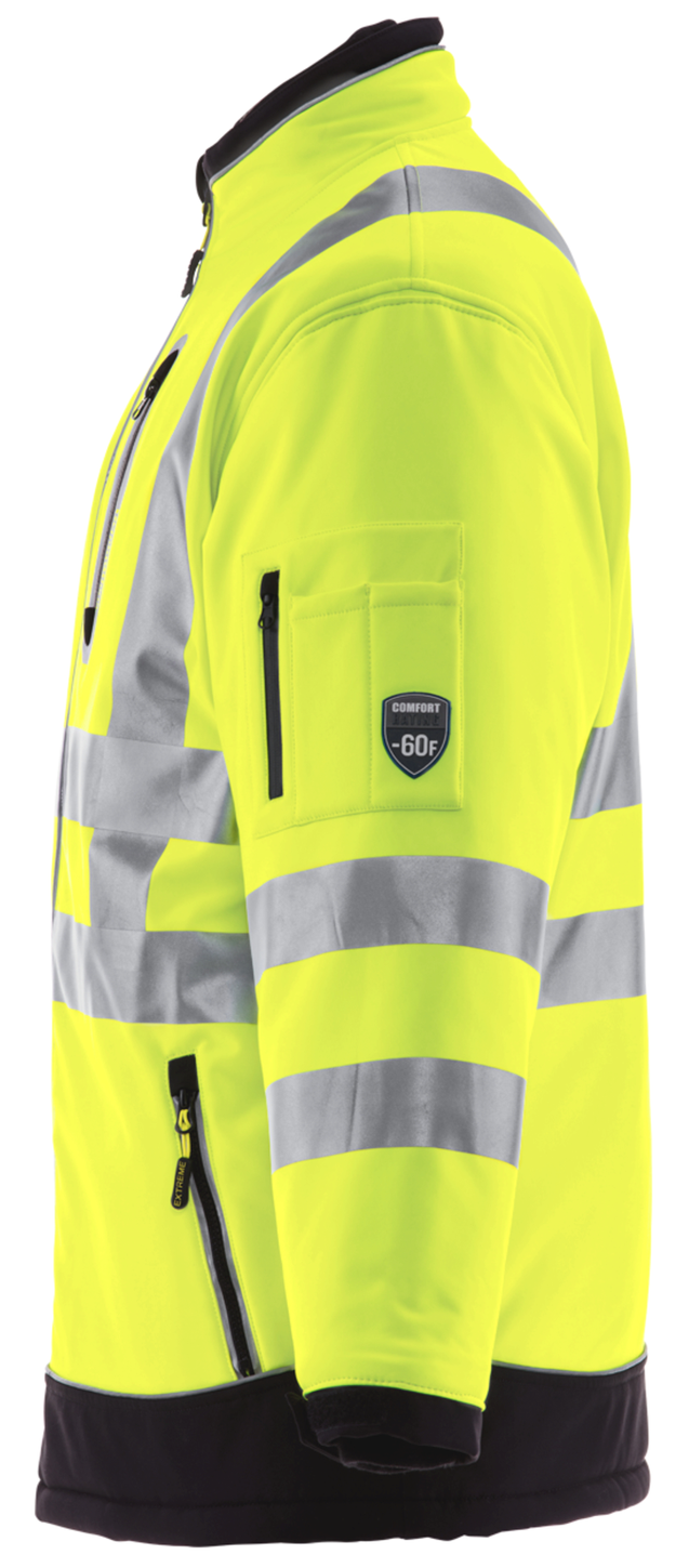 RefrigiWear 0796 HiVis Extreme Collection Softshell Jacket Left