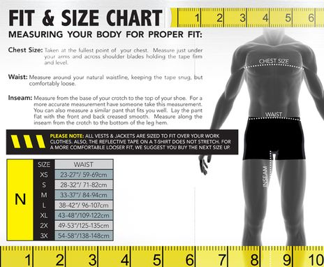 Occunomix size chart N