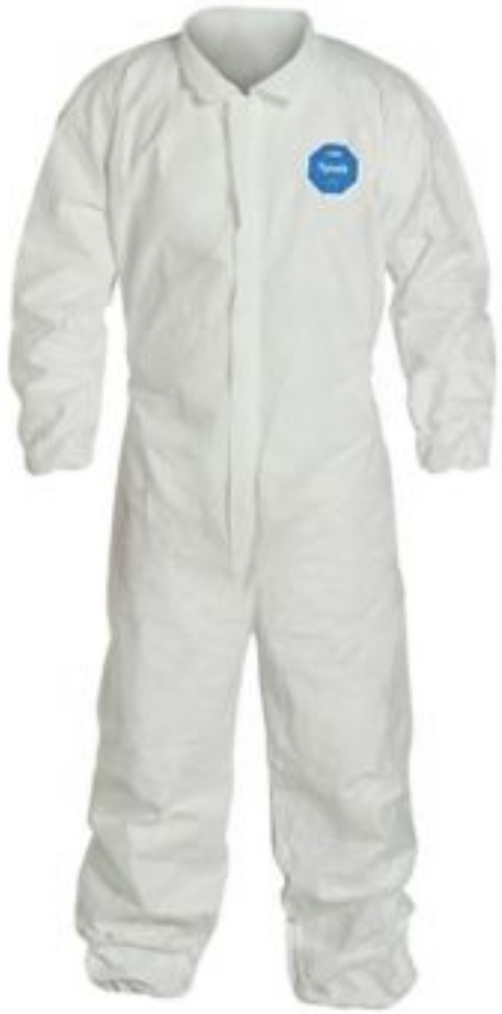 DuPont Tyvek Disposable Coverall with Elastic Wrists & Ankles - TY125SWH Front