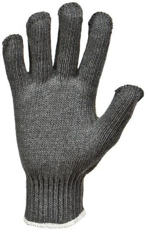 RefrigiWear Cold Weather Apparel - Midweight Knit Glove Liner 0301 - Gray