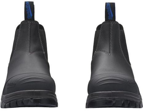 Blundstone 990 XFOOT Rubber Elastic Side Slip-On Steel Toe Boots - Water Resistant Front