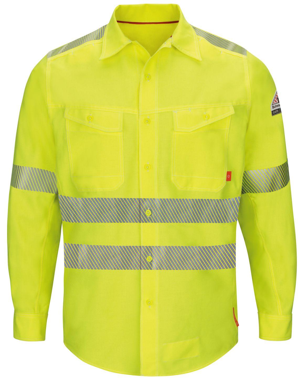 bulwark-fr-hi-visibility-shirt-qs40-hv-iq-series-endurance-yellow-green-front.jpg