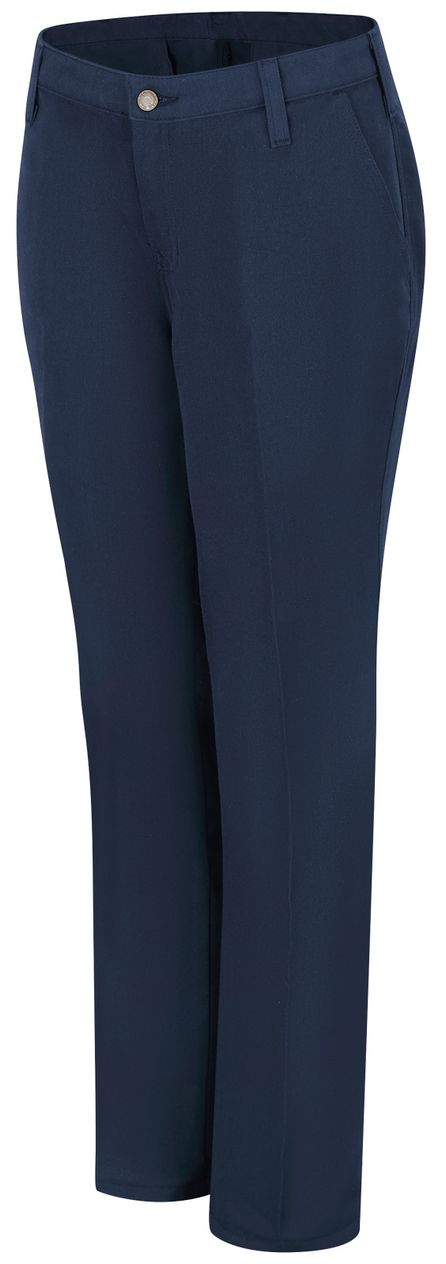 Workrite FR Women's Pants FP45, Station No. 73 Uniform Navy Front