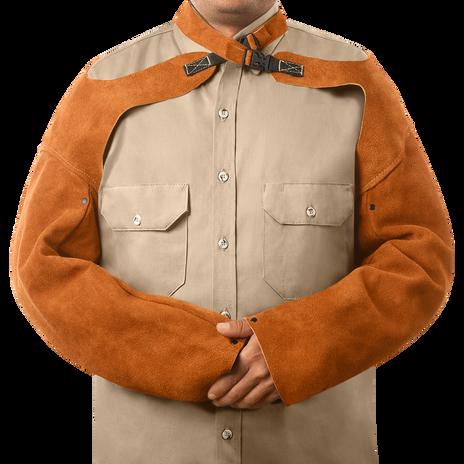 """Steiner Weld Rite Leather Sleeves 92181 - 23"""" Long"""