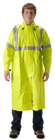 nasco arclite hi vis fr arc flash rated yellow rain coat
