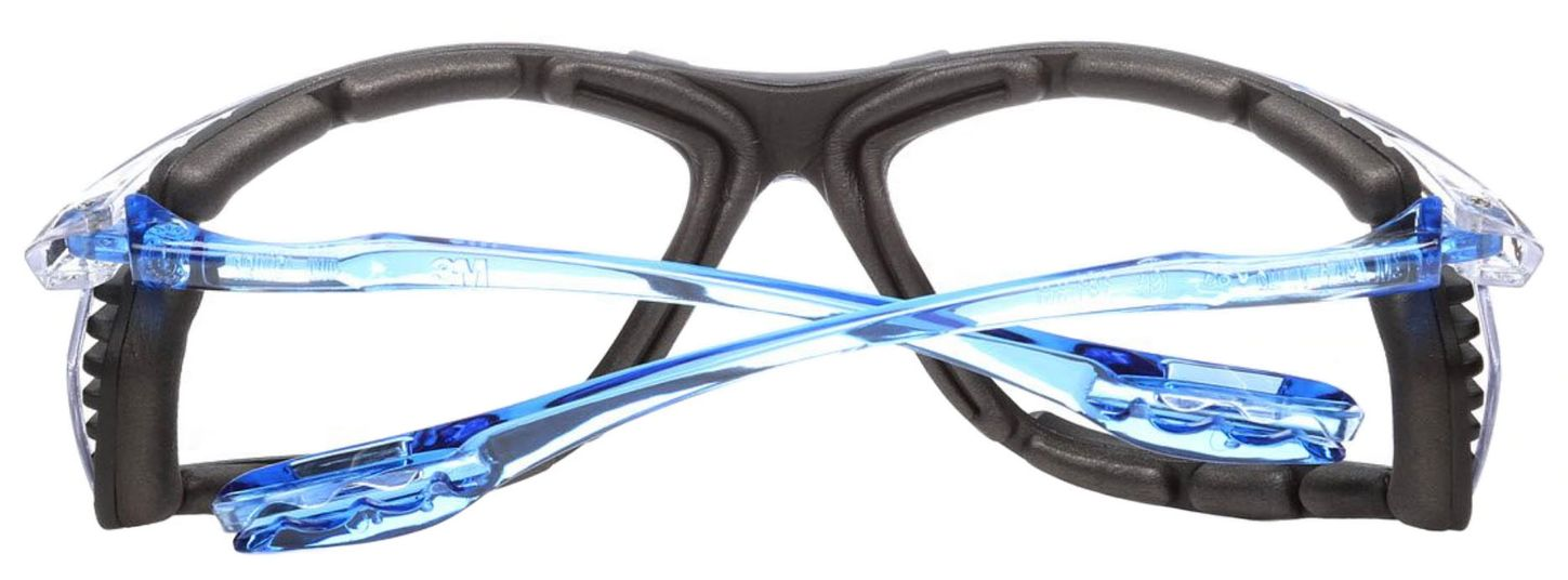 3M Virtua CCS Protective Safety Glasses with Foam Gasket and Anti-Fog Lenses Back