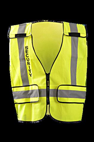 Occunomix LUX-PSSE-DOR Mesh Public Safety Break-Away Vest w/DOR, Security Front