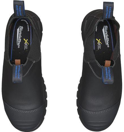 Blundstone 990 XFOOT Rubber Elastic Side Slip-On Steel Toe Boots - Water Resistant Up