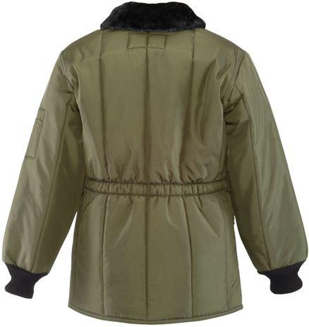 RefrigiWear 0342 Iron-Tuff Jackoat Cold  Weather Work Coat Sage Back