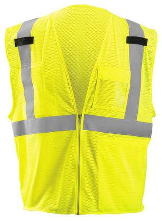 Occunomix LUX-GCZTAB Mesh Tablet Vest with Zipper Yellow Front
