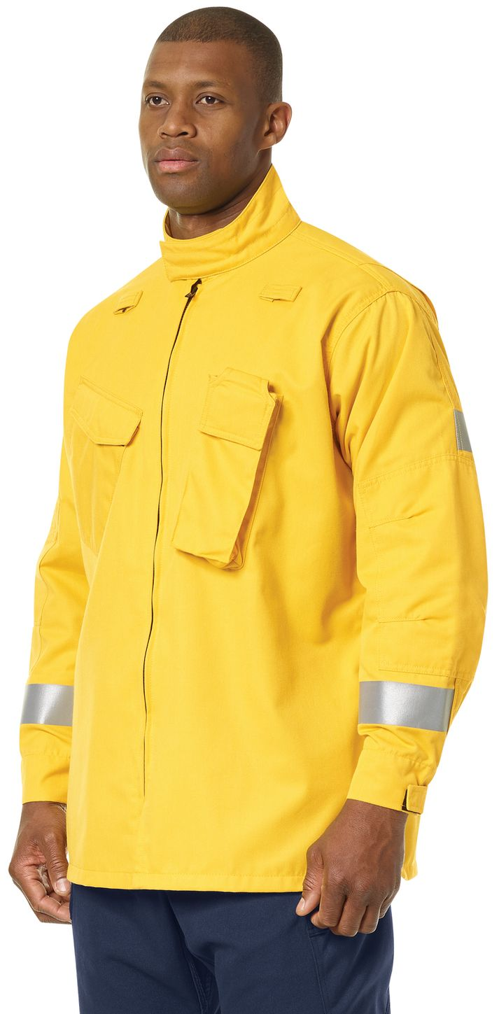 Workrite FR Jacket FW81, Relaxed Fit Wildland Yellow Example Left