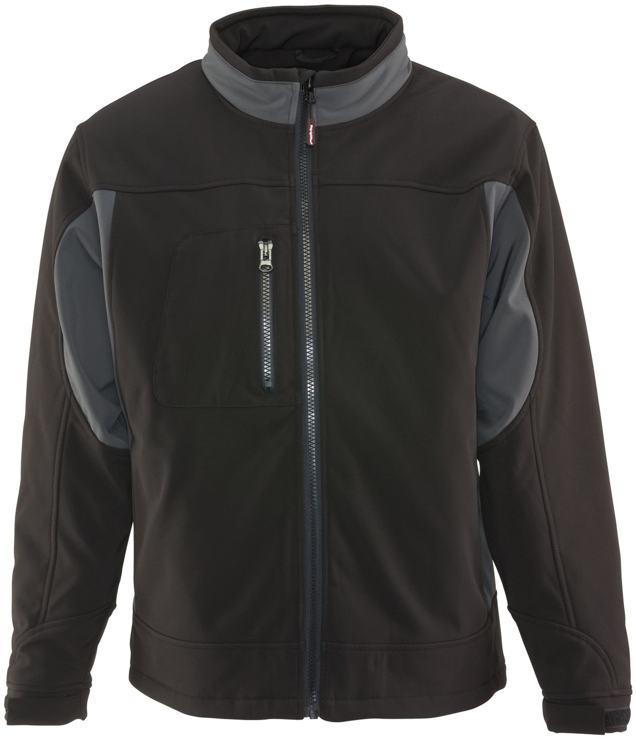 RefrigiWear 0490 Softshell Insulated Work Jacket Black Front