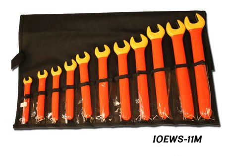 Cementex IOEWS-11M (Metric) Insulated Open End Wrench Set, 11PC