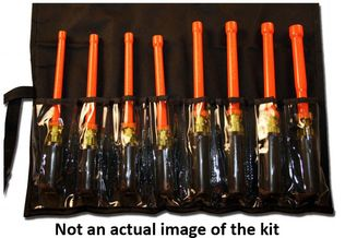 Cementex TR-9ND Insulated Nut Driver Kit, 9PC