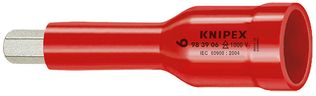 "Knipex Tools Insulated Hex Sockets for Metric Socket Screws for 3/8"" Drivers"