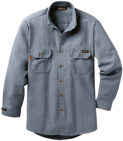 Workrite 7 oz Nomex FR Dress Shirt 258MH70 Medium Gray