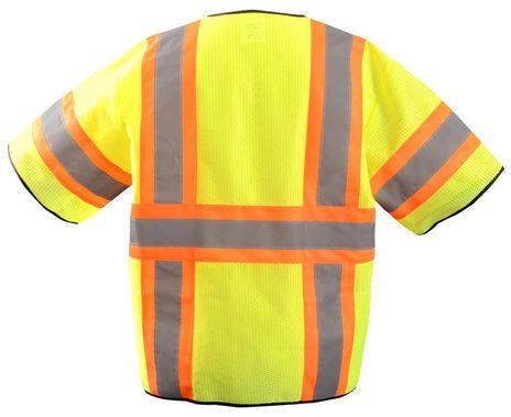 Occunomix ECO-GCZ32T HiViz Two-Tone Mesh Vest Back Yellow