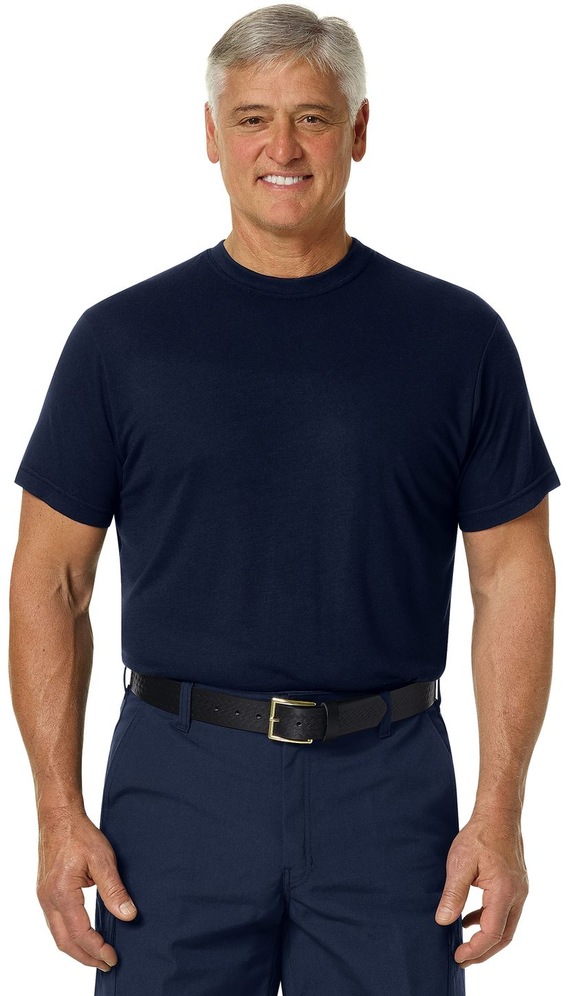 Workrite FR FT34, Station Wear Base Layer Tee Navy Example Front
