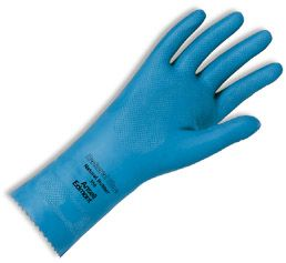 Ansell Light Duty Unlined Latex Gloves - Natural Blue 356
