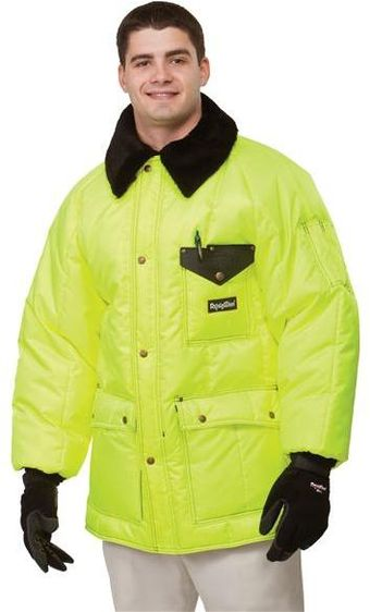 RefrigiWear Cold Weather Apparel - HiVis™ Iron-Tuff™ Siberian 0358HV - Lime