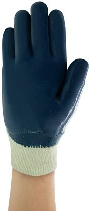 Ansell Hycron Heavy Nitrile Palm Dipped Glove 27-600 - Knit Wrist Back