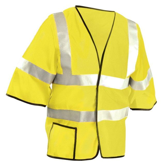 Occunomix LUX-HSCOOL3-Y Mesh Dual Stripe Vest, Yellow